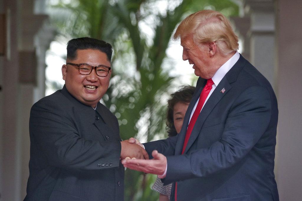 特朗普指北韓領袖金正恩已接受邀請。AP圖片