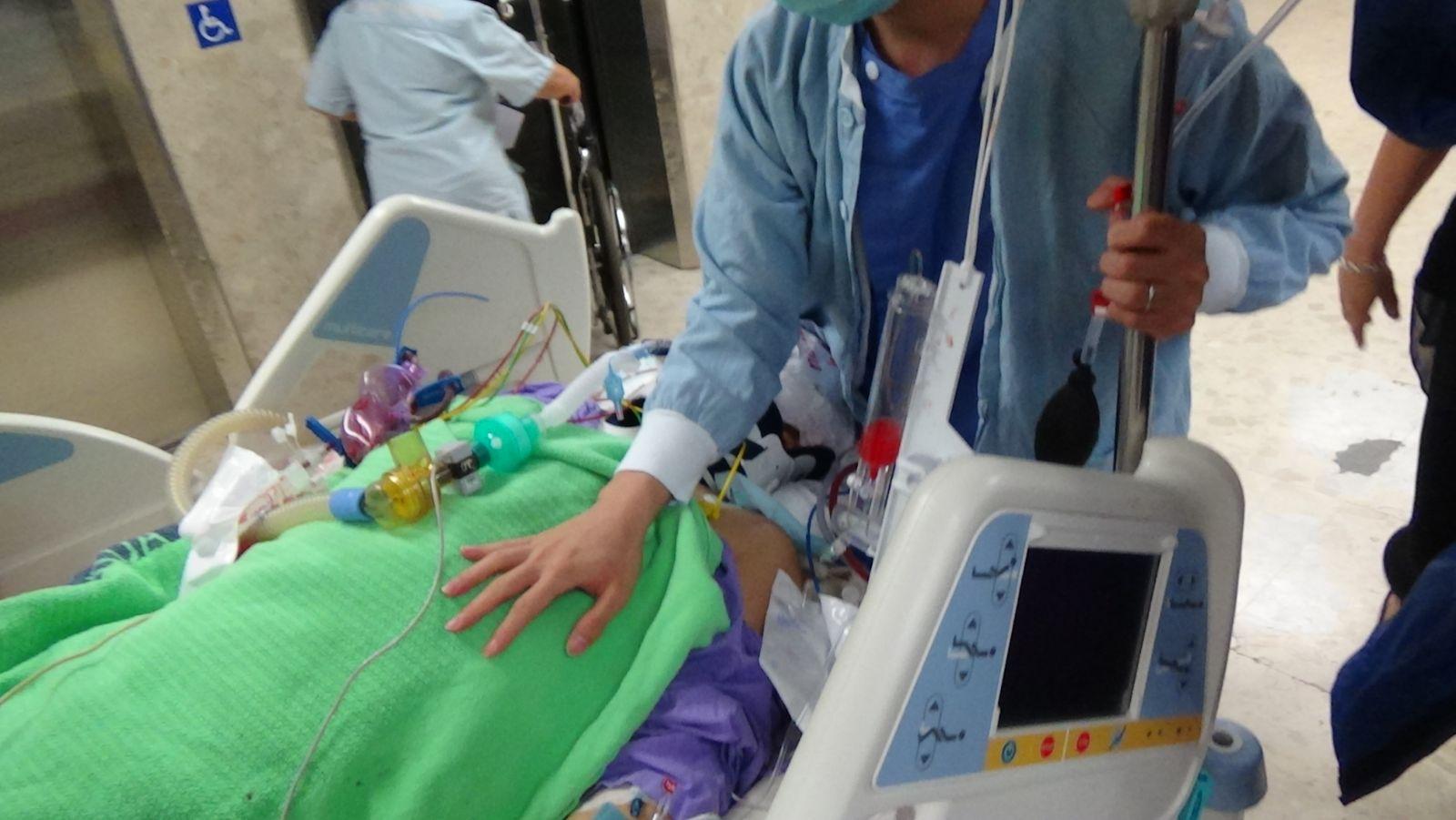 工人完成腦手術留醫深切治療部。