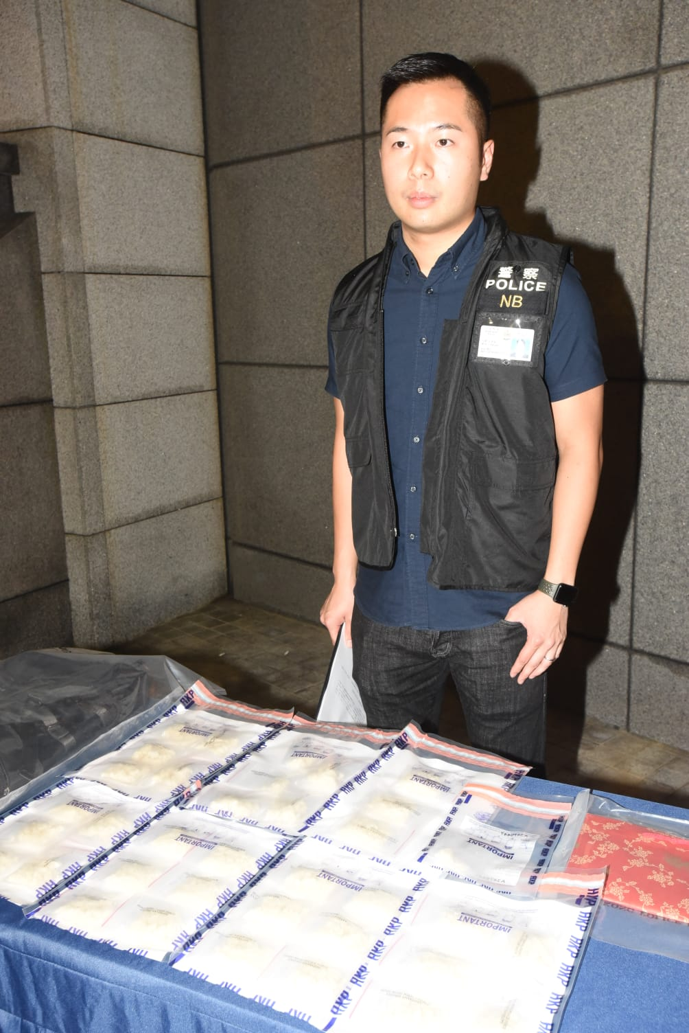 警方檢獲97萬元可卡因