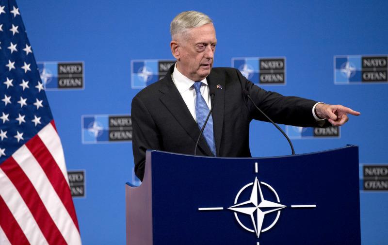 美國防部長馬蒂斯對叫停美韓軍演不感意外。(AP資料圖片)