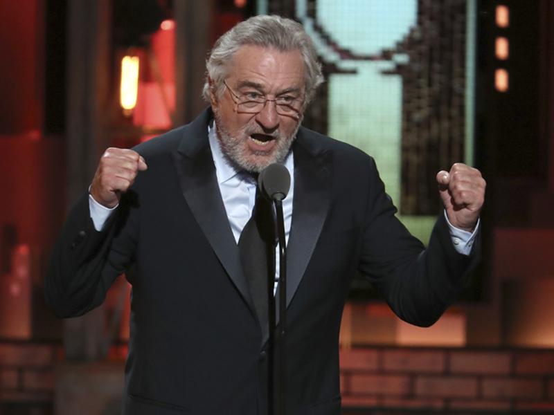 羅拔迪尼路周日出席東尼獎時爆粗問侯特朗普。AP