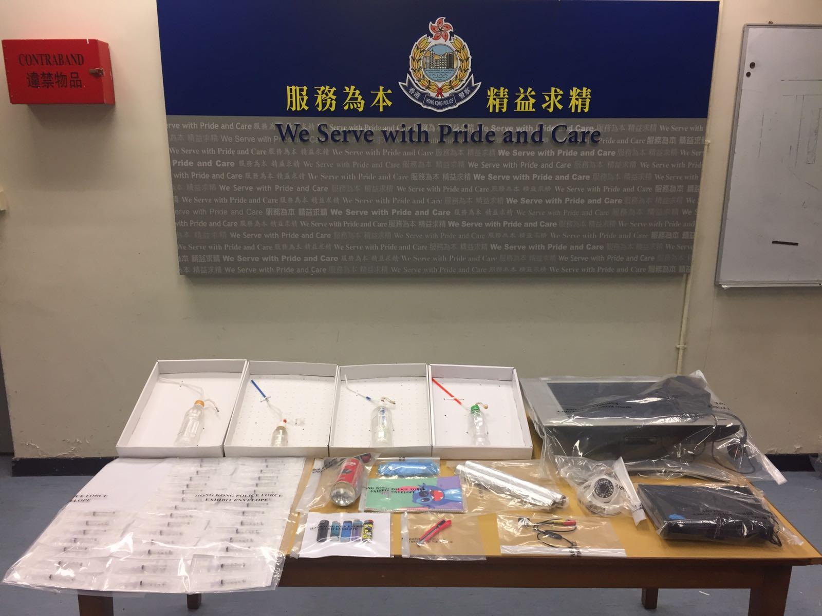 警方檢獲的證物。
