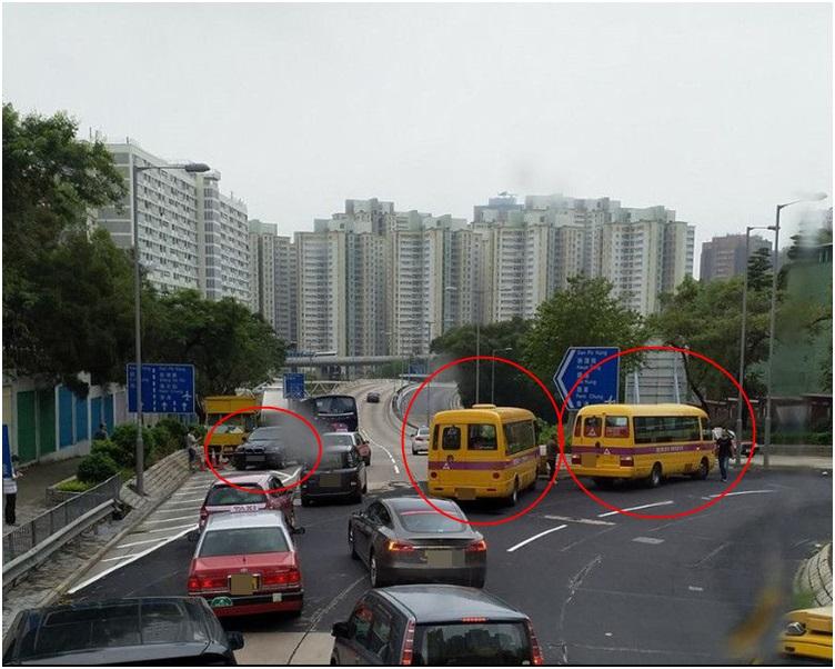 受意外影響上址只剩一線行車。圖:網民JY Yeung