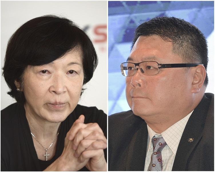 查毅超(右)接替羅范椒芬出任科技園公司董事局主席,任期兩年。