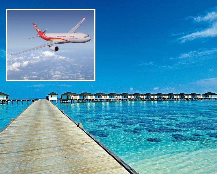 香港航空一名空中服務員疑在馬爾代夫遇溺昏迷。 資料圖片