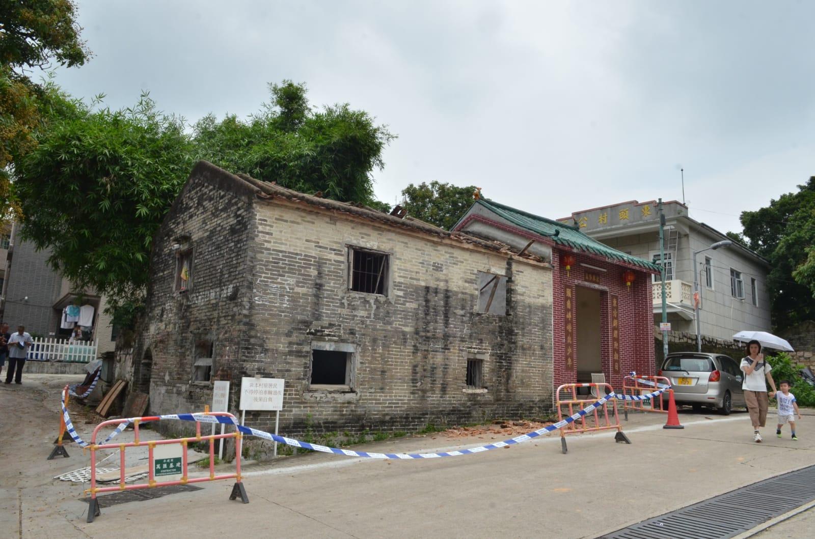 東頭村內有另一古廟被列為古蹟文物。林思明攝