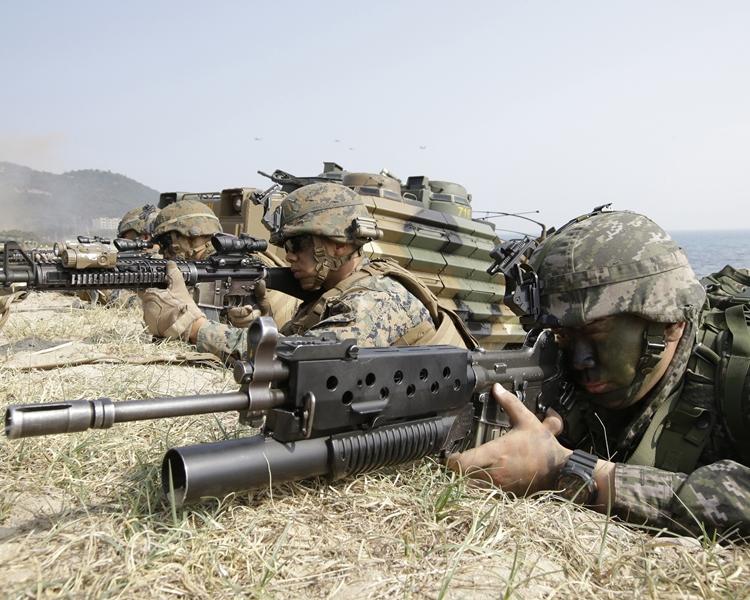 美韓聯合軍演原定於今年8月在朝鮮半島舉行。AP