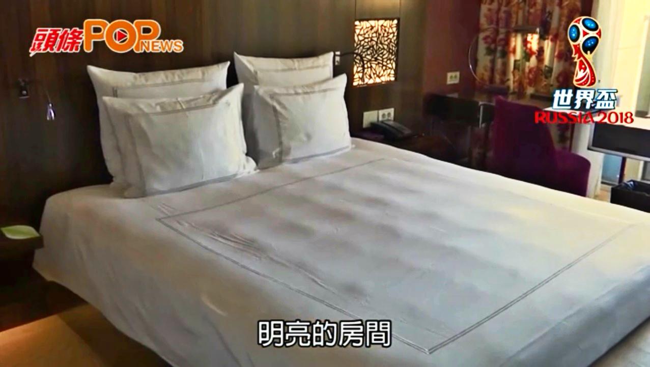記者實地走訪球員入住酒店視察。