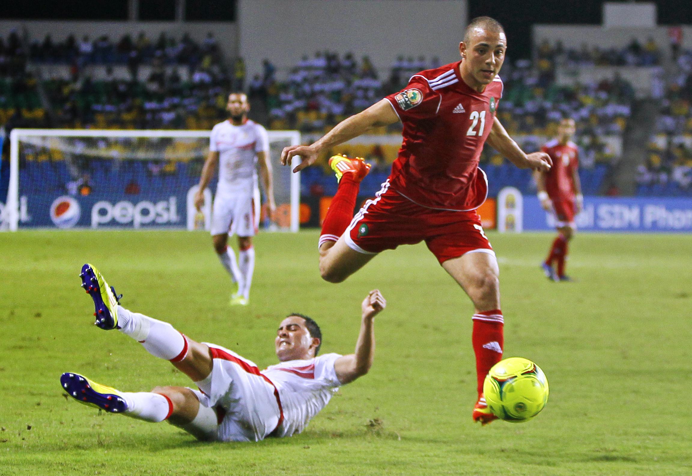 岩拉伯特(右)若缺陣,摩洛哥實力無疑打折扣。AP