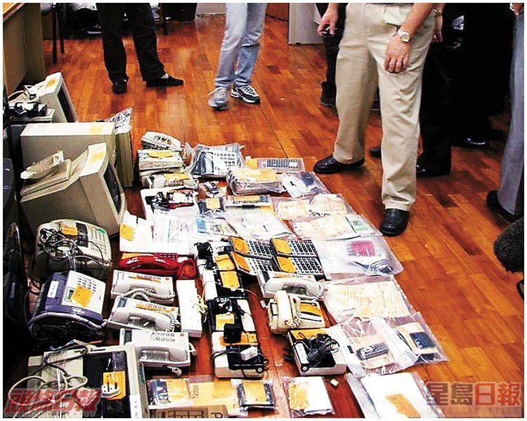 澳門廉署及司警檢獲大批外圍馬賭具。資料圖片