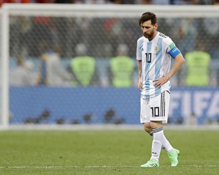 阿根廷惨吞克罗地亚三蛋。AP