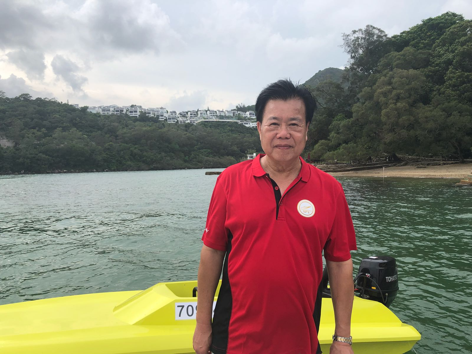 亞洲賽艇協會創會副會長及行政總監江水生先生希望,更多青年參與賽艇運動。鄺沛同攝