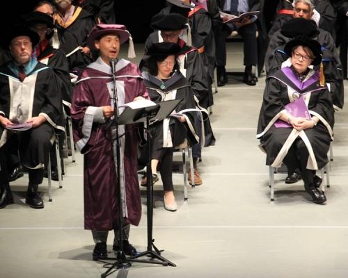 張學友寄語演藝畢業生:自覺不夠好才會更進步