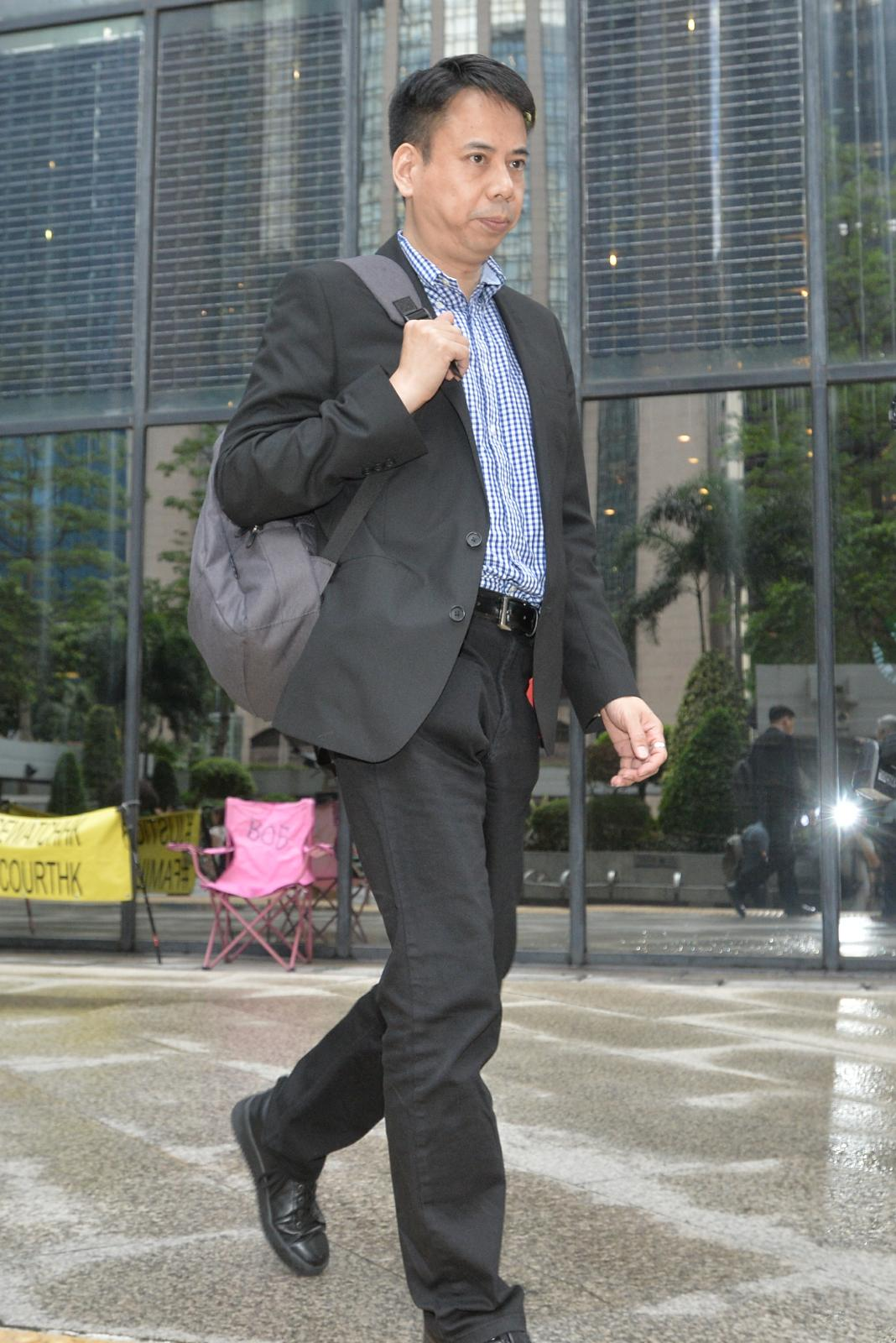 會計師杜智(譯音)今午出庭作供。陳浩元攝