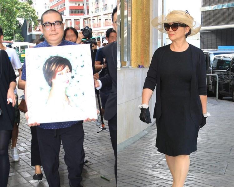 林燕妮兒子李凱豪捧遺照;馮寶寶送別相識逾40年的好姊妹。