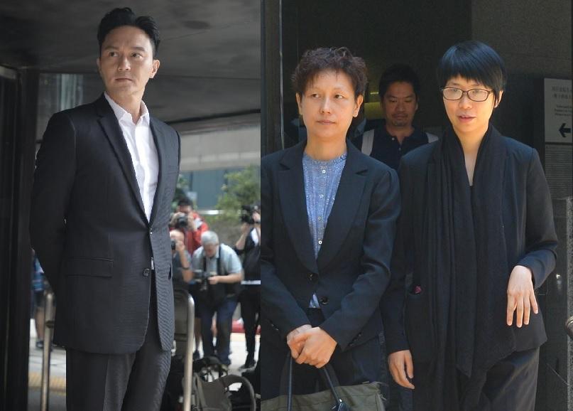 張智霖(左)涉遭前女經理人梁雅詩(右)詐騙近百萬報酬案今於區域法院續審。資料圖片/梁譽東攝