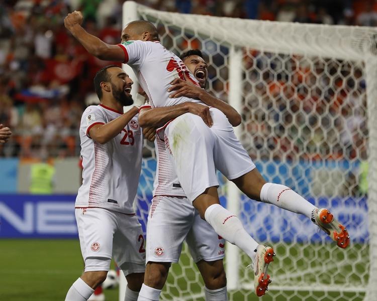突尼西亚击败巴拿马。AP