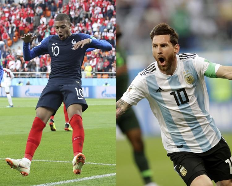 阿根廷大战法国明晚上演。AP