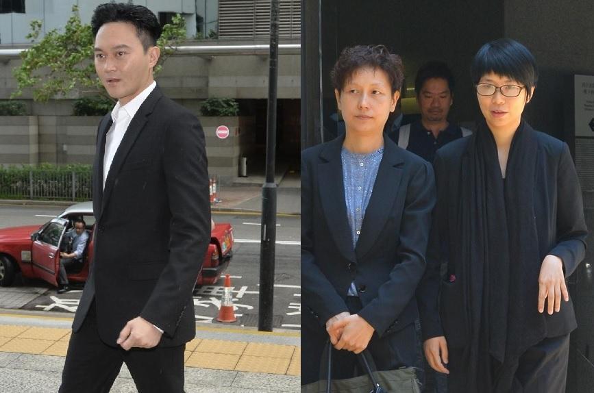 主控官指被告梁雅詩(右一)是一位不誠實證人。左圖為張智霖。資料圖片