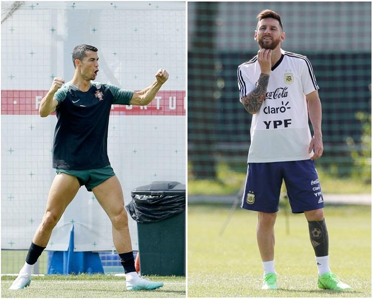 葡萄牙教練坦承球隊會倚重C朗。圖右為美斯。AP