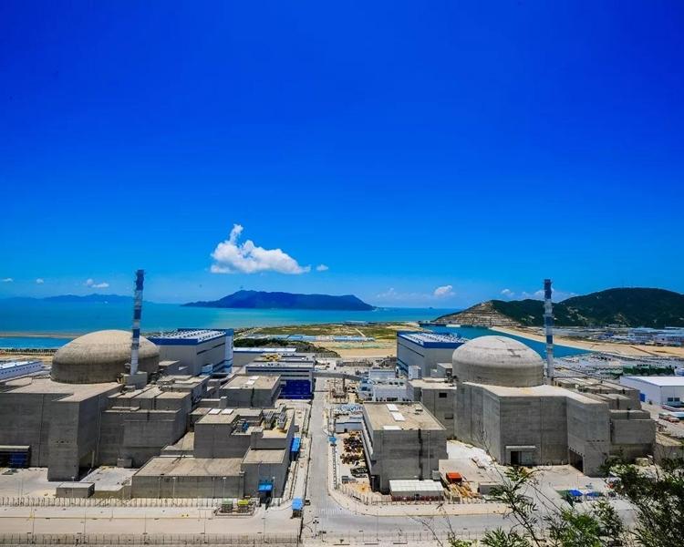 距離香港130公里的台山核電廠。網圖