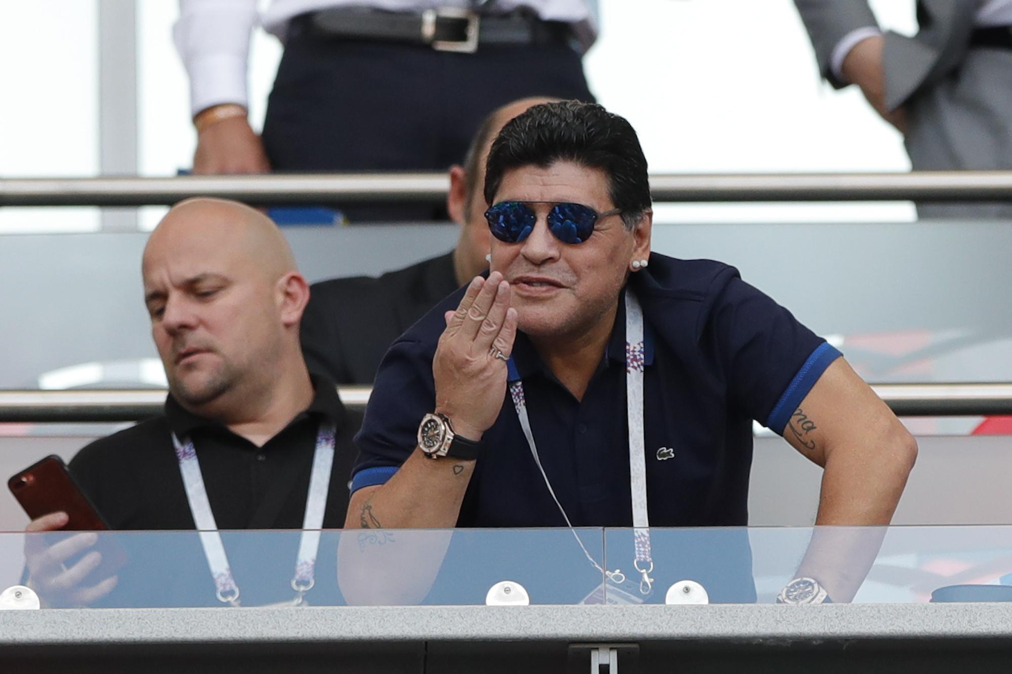馬勒當拿目擊阿根廷出局。AP