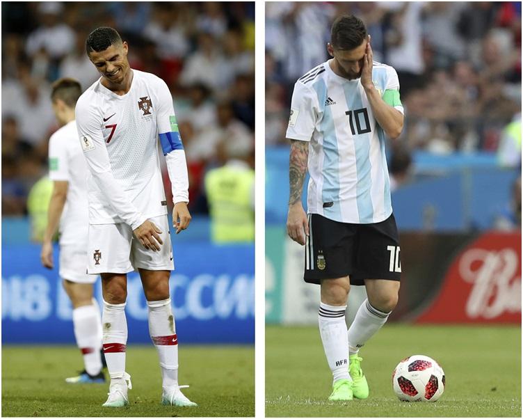 C朗(左)和美斯都在今屆世盃之旅止步。AP