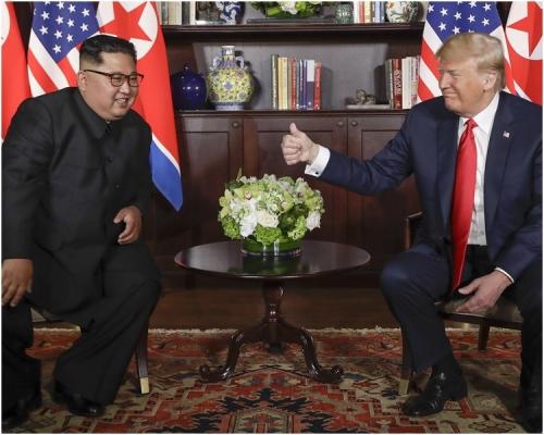 特朗普和金正恩6月舉行「特金會」。AP