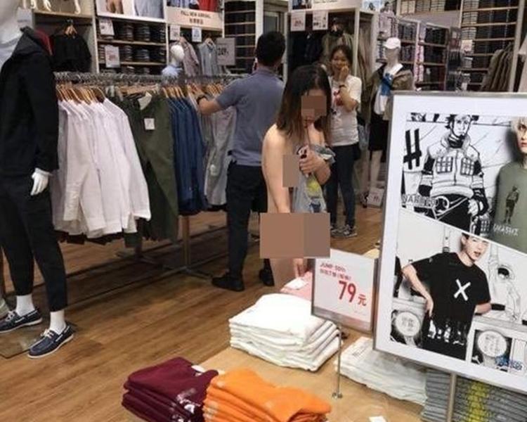 有網友認為,事發地點是位於上海淮海路的一間衣服店。網圖