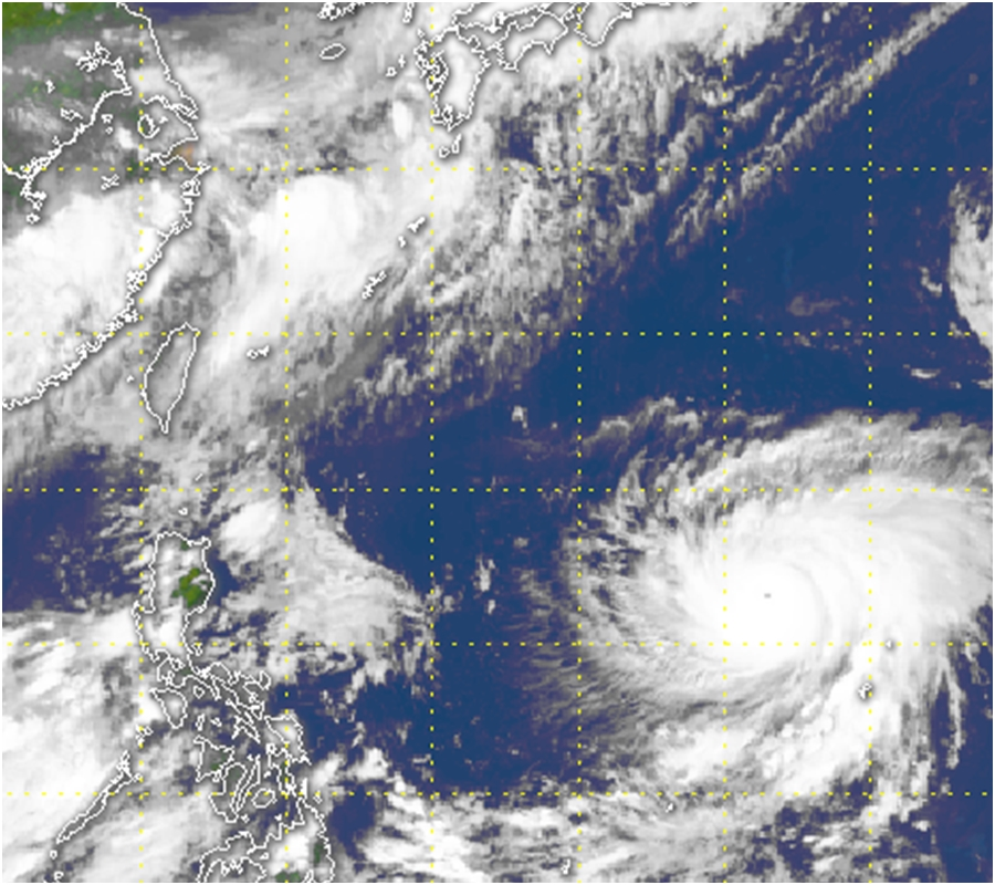 瑪莉亞風眼清晰可見。天文台衛星圖像