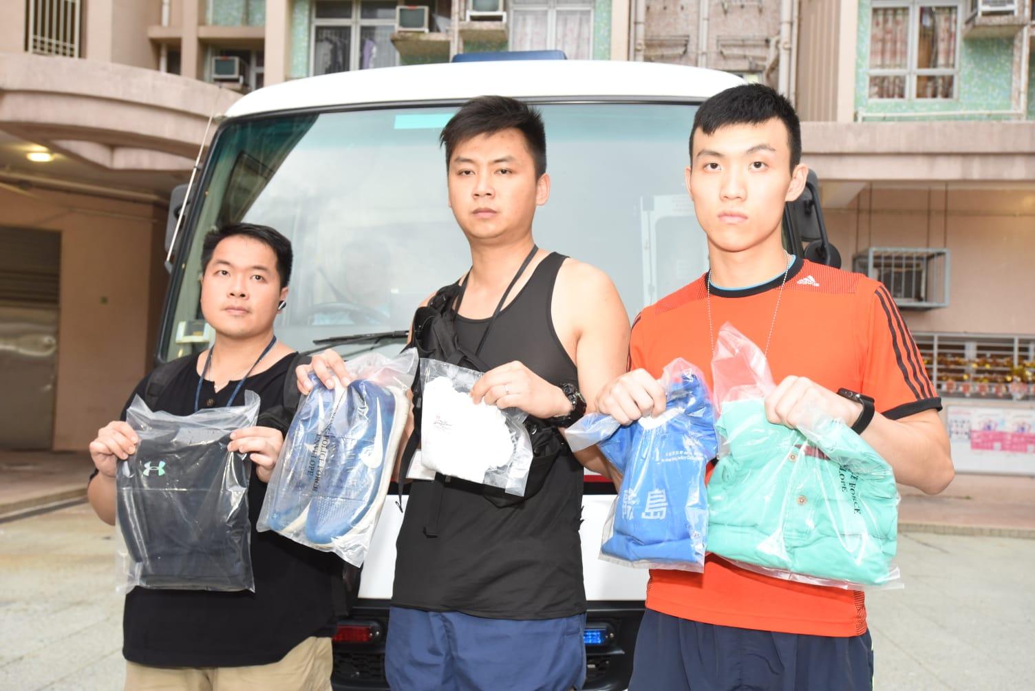 警方搜出犯案衣物