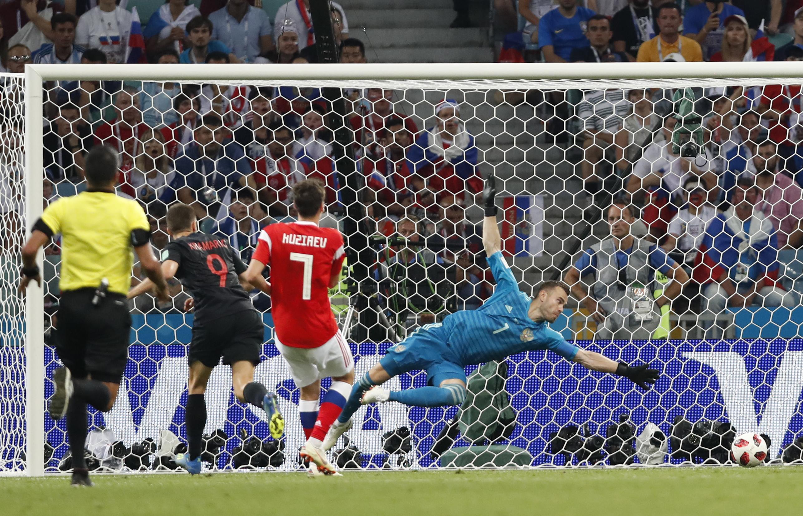 克羅地亞入四強後將對英格蘭。AP