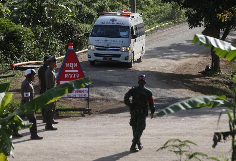 泰國困洞獲救少年有感染跡象,需留院一星期觀察,暫未可接觸家人。AP