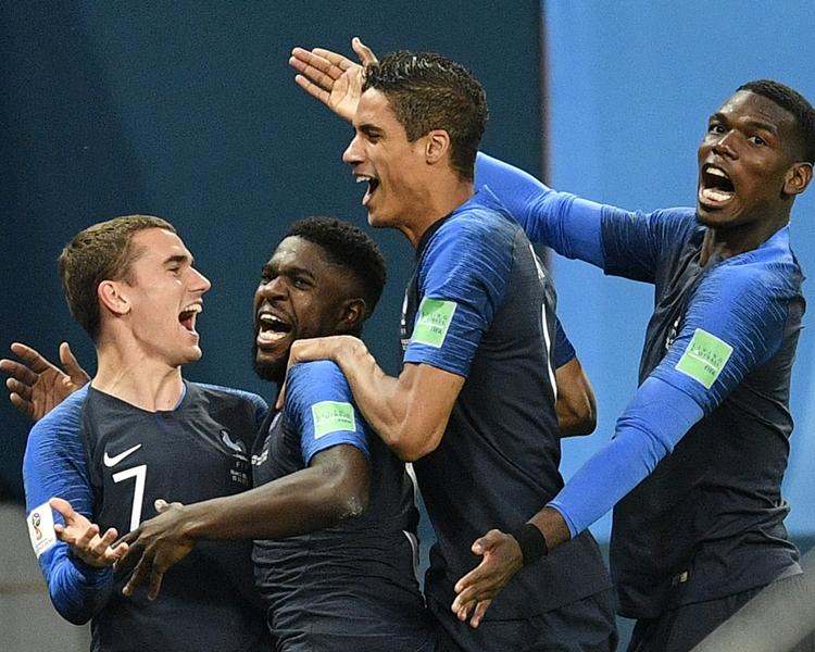 法國1:0小勝比利時。AP