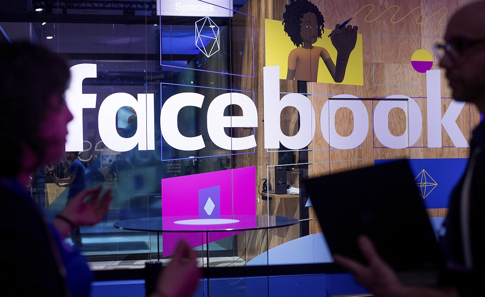 facebook在2018年第1季,平均每5分半鐘便有50萬英鎊收入。AP