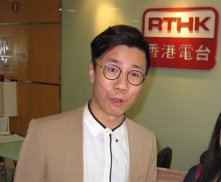 曾志豪今日在直播節目《瘋show快活人》期間爆粗。資料圖片