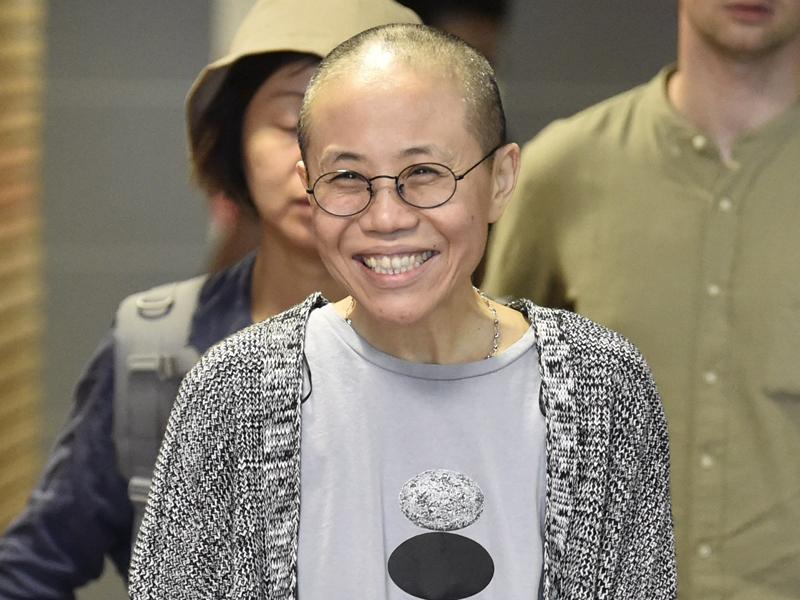 德國政府指劉霞可以長期居留。AP