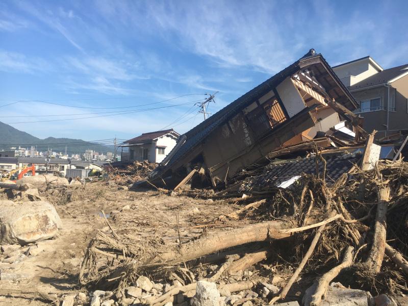 水災造成嚴重破壞。AP