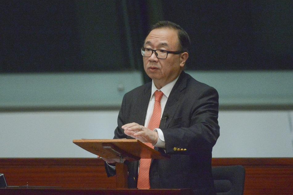 廖長江批評民主派借不信任動議誣告立法會主席梁君彥。資料圖片