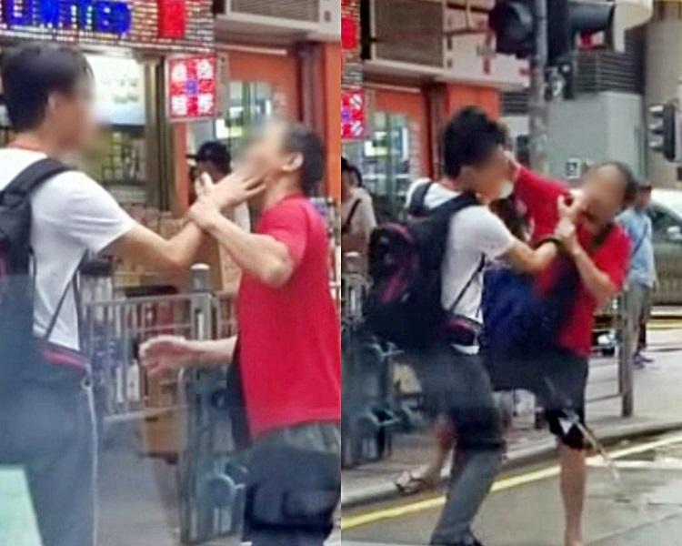 有人認為事件起因由男子拍打大叔臉部引起。facebook