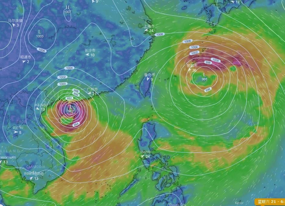 歐洲中期天氣預報中心(ECMWF)預報下周或有2個風暴形成。