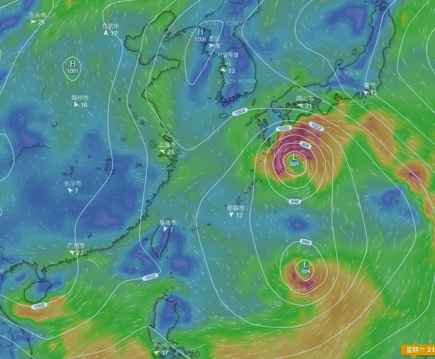 美國的全球預報系統(GFS)預測另外2個熱帶氣旋在太平洋形成。
