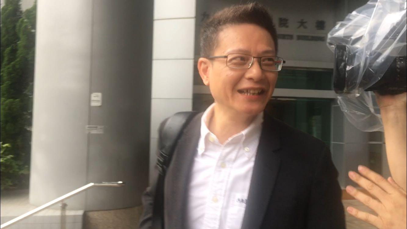 倒車撞毀私家車後離去,前社民連主席陶君行被判罰3500元。劉曉曦攝