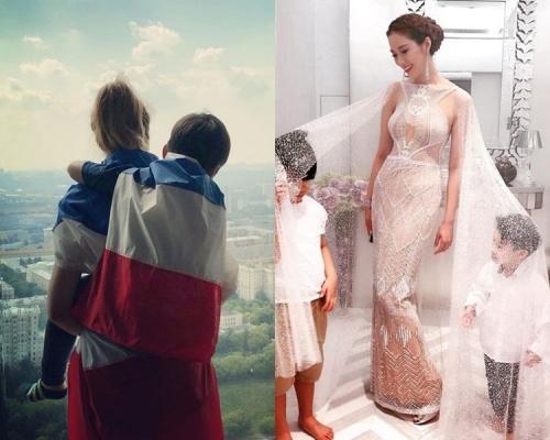 【世盃狂熱】徐子淇孭囝囝披法國國旗:早晨莫斯科