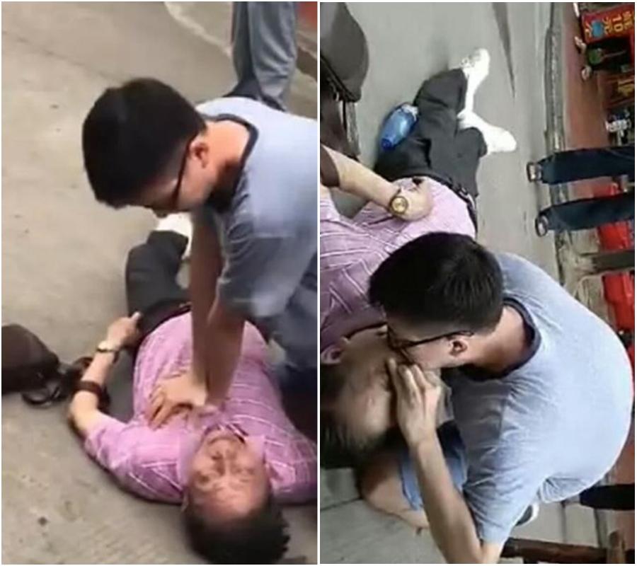 醫生遊廈門救老伯一命 拒收家屬1萬元謝禮。網上圖片