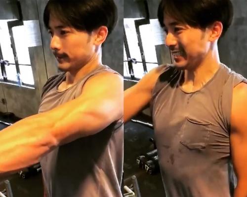 【力的表現】林德信做Gym大晒臂肌