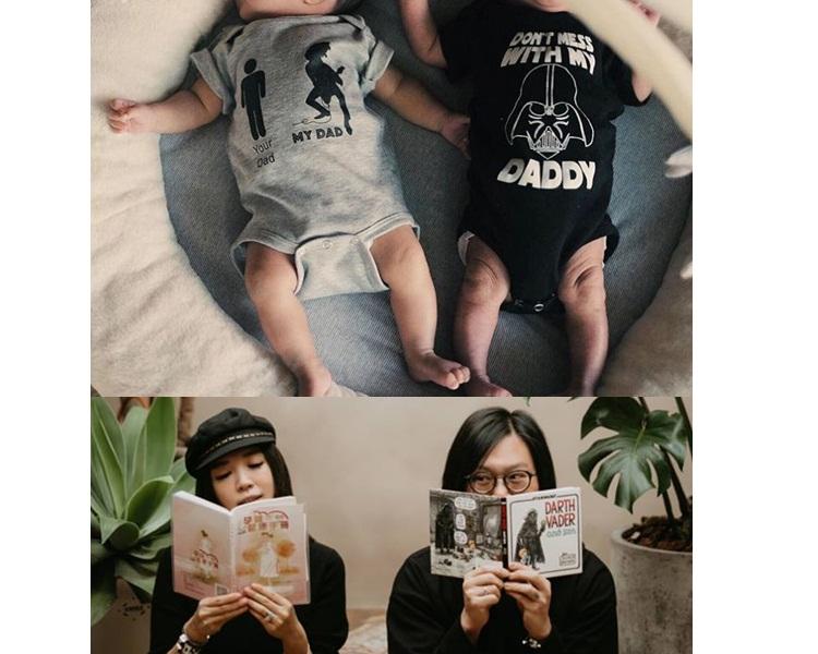 網民估灰衣是妹妹,黑衣是弟弟。(謝葦怡ig圖片)