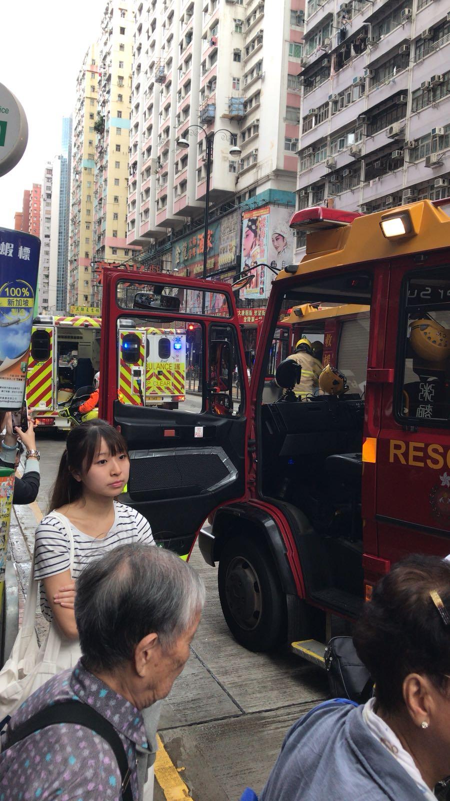 消防員到場。讀者提供圖片