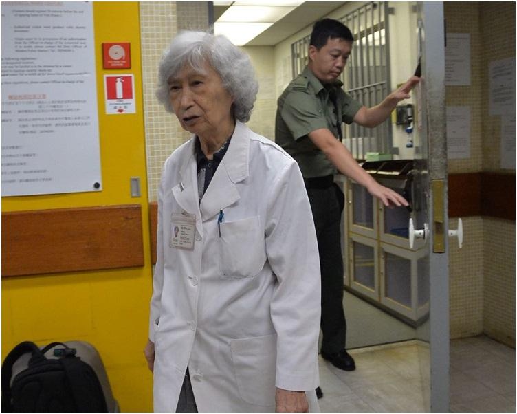 楊紫芝早上進入羈留病房。