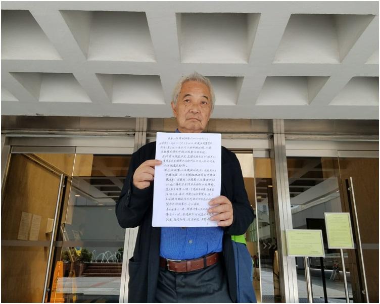 郭卓堅強調香港市民有權對行政部門及其人員的行為提出起訴。黃梓生攝
